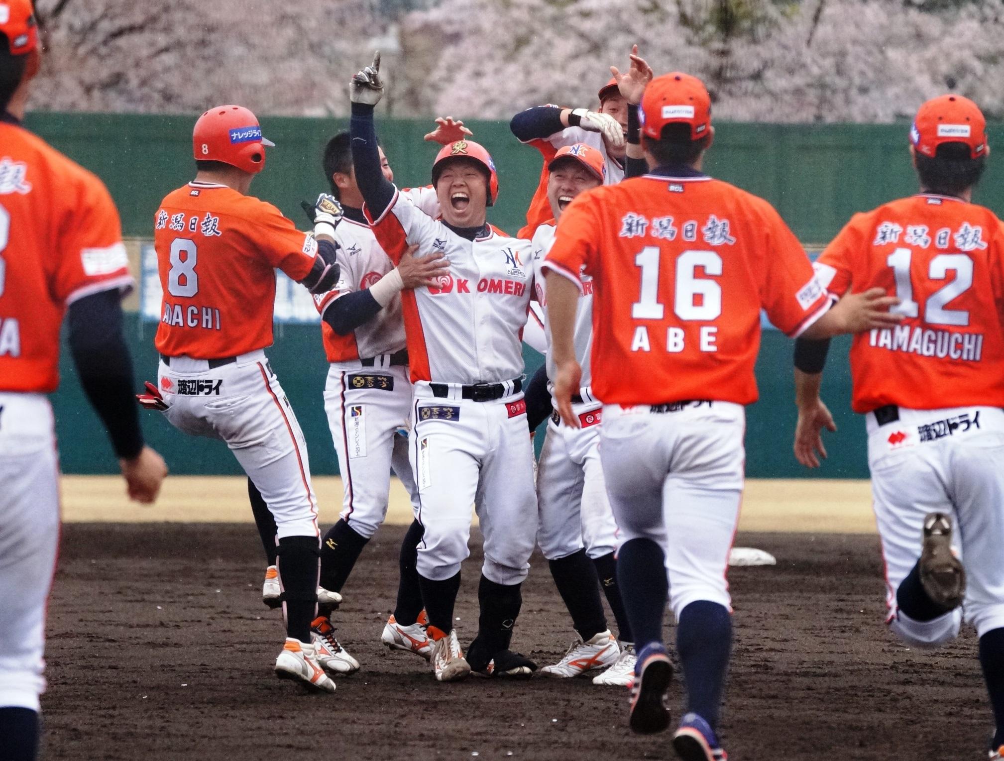新潟野球ドットコム【ルートインBCL】新潟が逆転サヨナラ勝ち 東地区首位守る