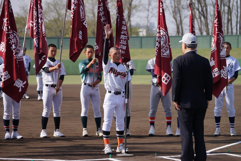 新潟野球ドットコム【中学硬式】シニア春季大会が開幕 12チームが出場し開会式